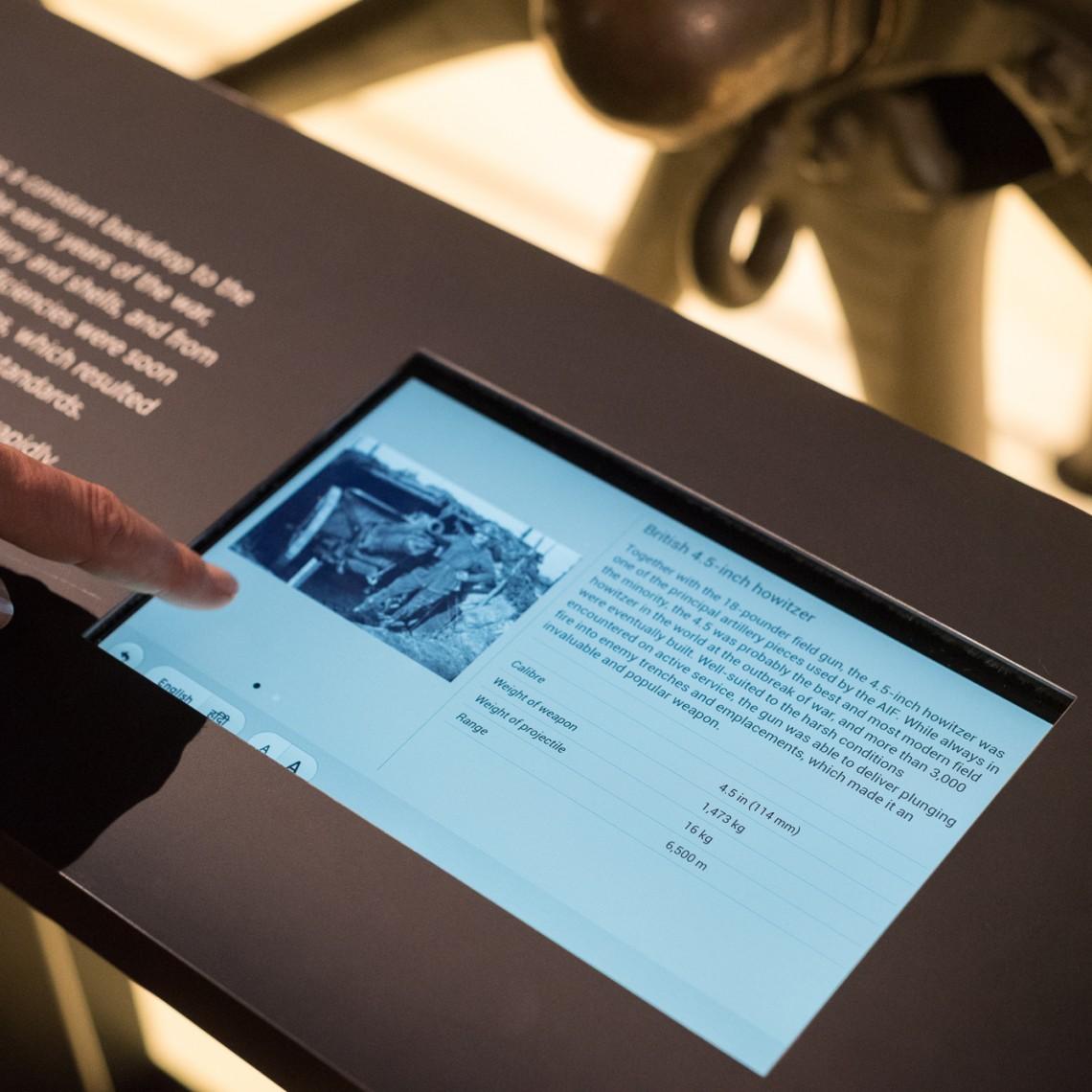 Digital graphic signage Australian War Memorial